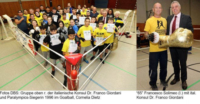 "DBS-Boxlehrgang & Boxtrainer Francesco Solimeo wird ""65"""
